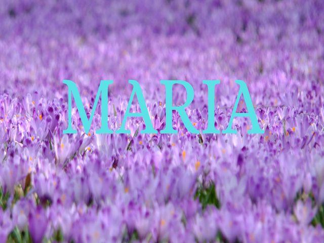 significato nome maria