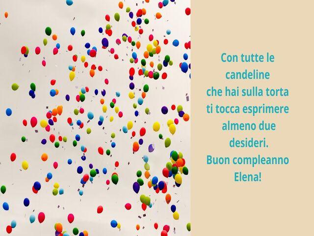 tanti auguri Elena