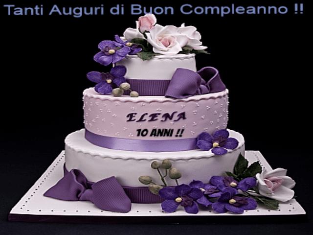 torta auguri Elena