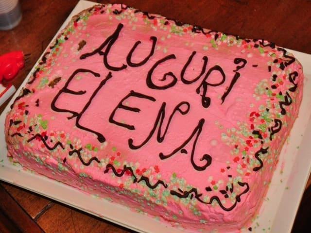 torta di auguri Elena