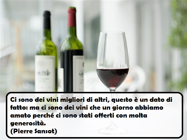 un bicchiere di vino frasi