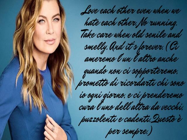 frasi in Grey's Anatomy