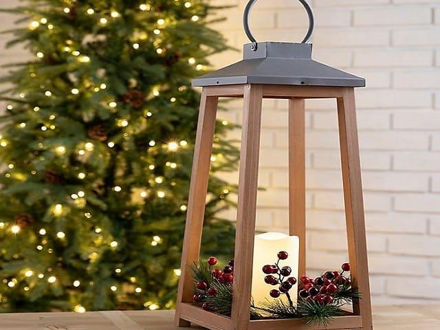 lanterna legno natale