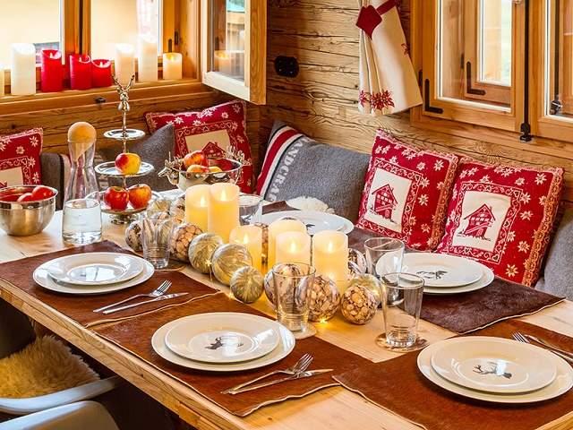 tavole natalizie rustiche