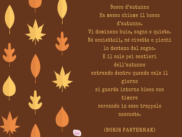 poesia sull autunno