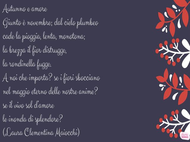 poesie d autunno