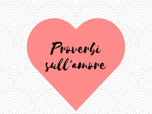 proverbi d amore
