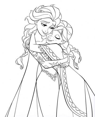 Anna e Elsa abbracciate