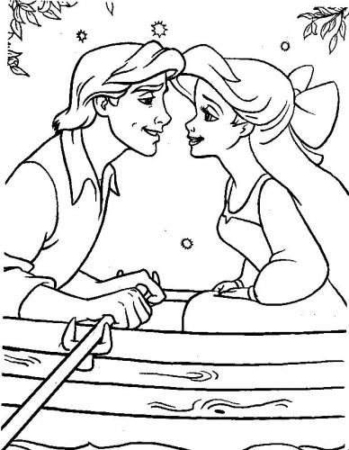 Ariel e Eric bacio in barca