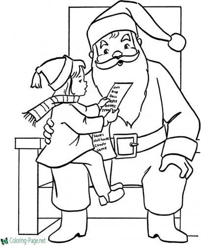 Babbo Natale ascolta una lettera