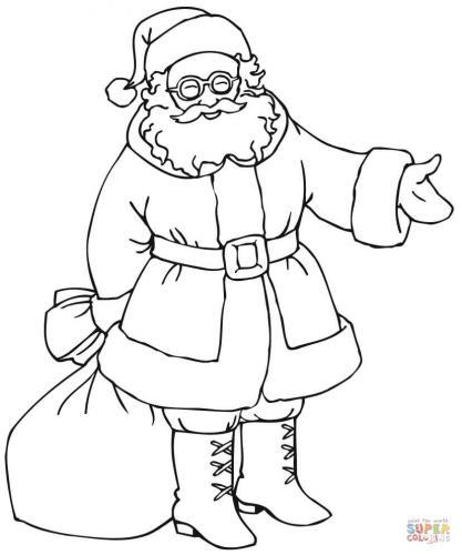Babbo Natale consegna i regali con il suo sacco