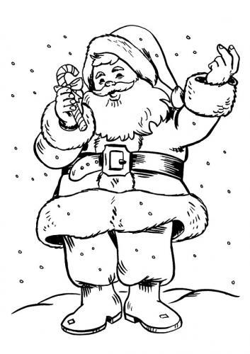 Babbo Natale con un dolce di Natale