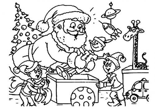 Babbo Natale organizza i regali
