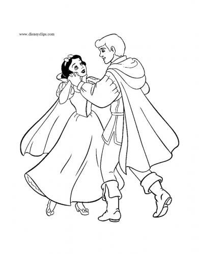 Biancaneve e il principe danzano