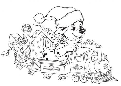 Cane della carica dei 101 a Natale