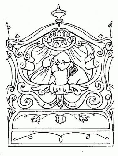 Cenerentola e il principe nella carrozza