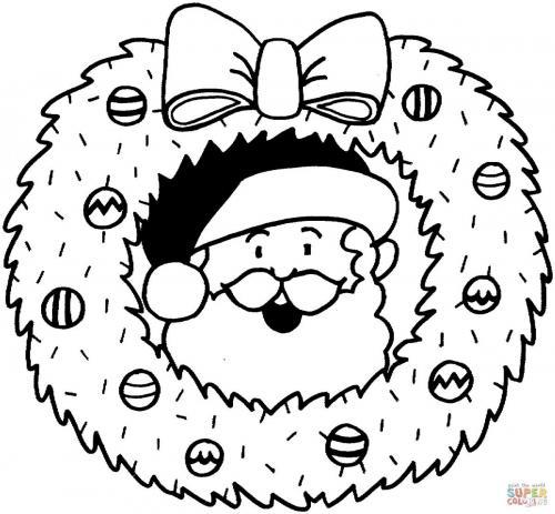 Corona di Natale con Babbo Natale