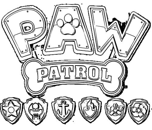 Disegni stemma Paw Patrol da colorare