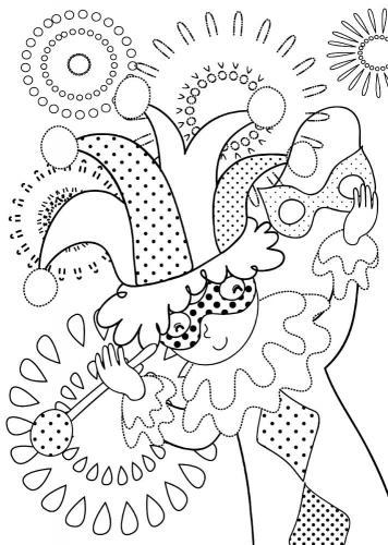 Disegni di carnevale da colorare