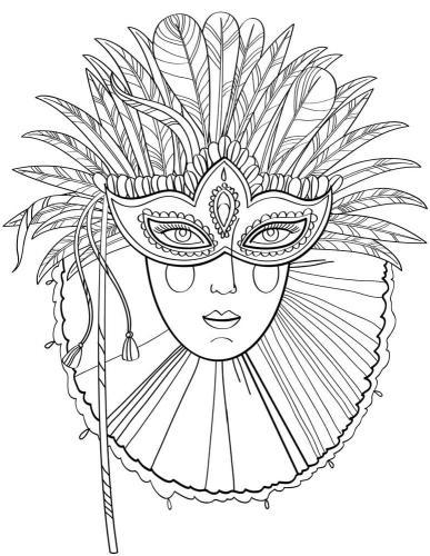 Disegni di carnevale da colorare maschera