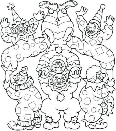 Disegni di carnevale da colorare pagliacci