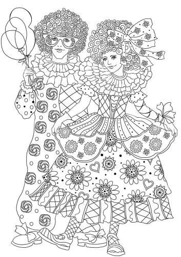 Disegni di carnevale da colorare maschere