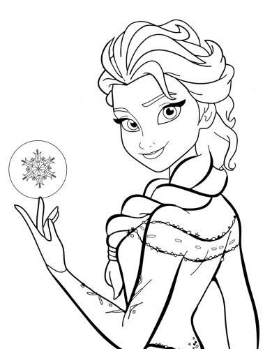 Elsa con una sfera di ghiaccio
