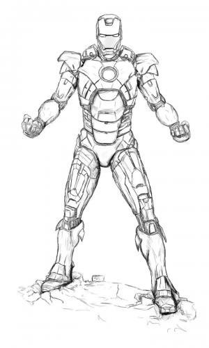 Iron Man Avengers da colorare e stampare