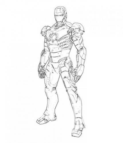 Iron Man Avengers da colorare
