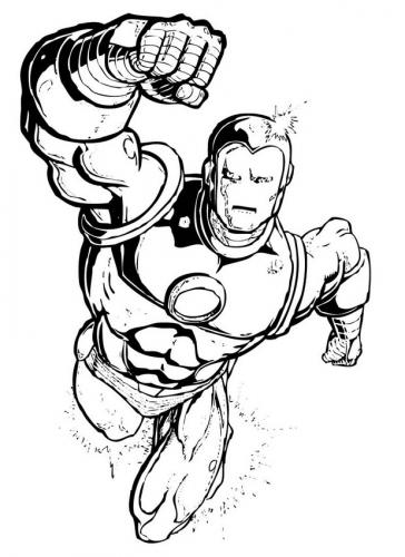 Iron Man The Avengers da colorare