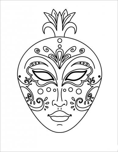 Disegni Di Maschere Di Carnevale Da Colorare.Disegni E Maschere Di Carnevale Da Colorare A Tutto Donna