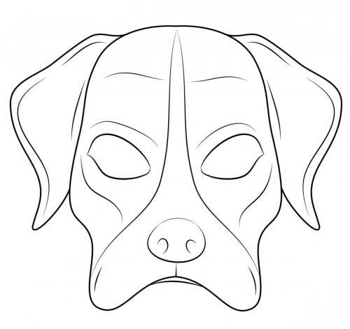 Maschere di carnevale da colorare cane