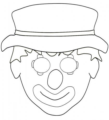 Maschere di carnevale da colorare clown pagliaccio