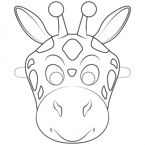 Maschere di carnevale da colorare giraffa