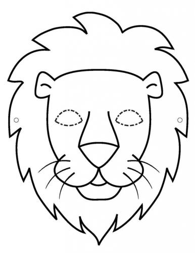 Maschere di carnevale da colorare leone