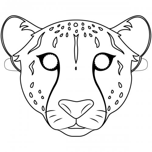 Maschere di carnevale da colorare leopardo