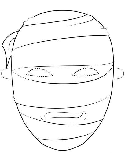 Maschere di carnevale da colorare mummia