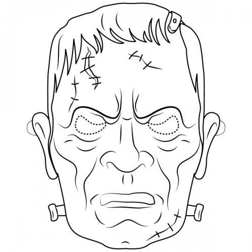 Maschere di carnevale da colorare zombie