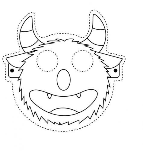 Maschere di carnevale da colorare mostro