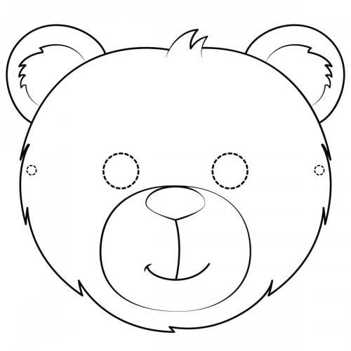 Maschere di carnevale da colorare orso