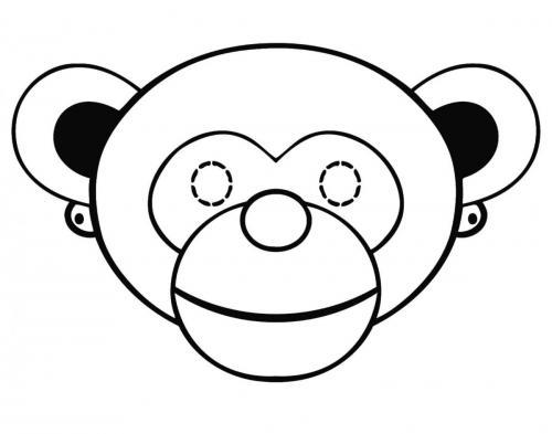 Maschere di carnevale da colorare scimmia