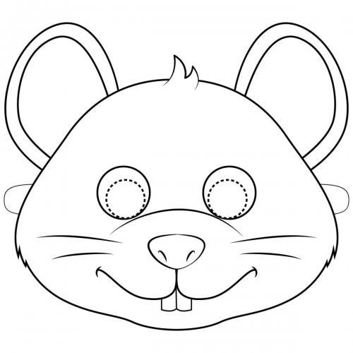 Maschere di carnevale da colorare topo