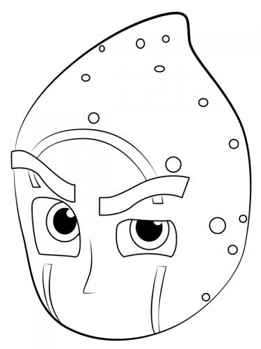 Ninja della notte disegni da colorare per bambini super pigiamini