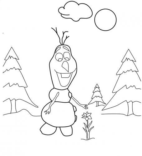 Olaf raccoglie un fiore