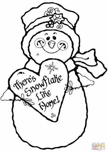 Pupazzo di neve con un cuore