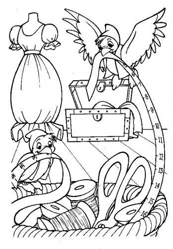Gli uccellini preparano il vestito di Cenerentola