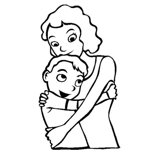 abbraccio mamma figlio