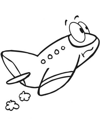 aerei da colorare per bambini