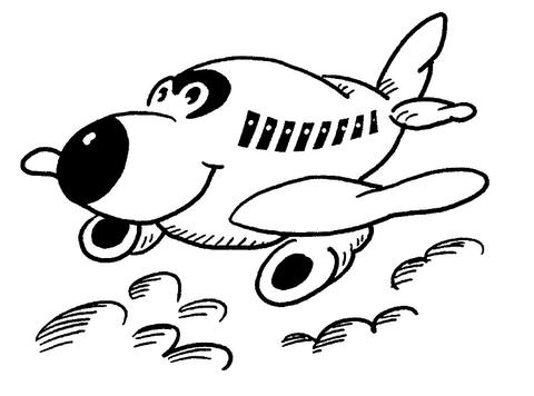 aereo con occhi