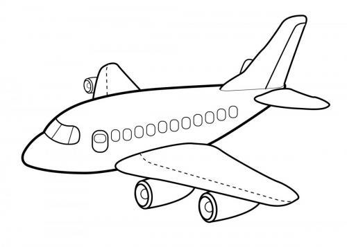 aereo da colorare